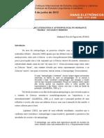 (FIIGUEIREDO, Nathaniel Reis de) RELAÇÕES ENTRE LITERATURA E ANTROPOLOGIA NO ROMANCE 'MAÍRA', DE DARCY RIBEIRO