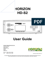 Horizon HD-S2 Manual