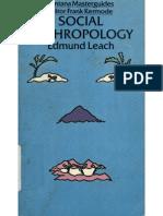 Edmund Ronald Leach Social Anthropology Fontana Masterguides 1982