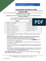 NCA Schedule 2014