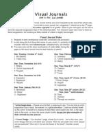 Art 1 Visual Journal Assignments (09-10)