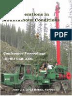 Proceedings IUFRO 3.06 Norway