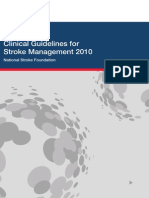 Clinical Guidelines Acute Management 2010 Interactive STOKE