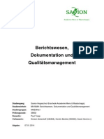 produkt berichtswesen dokumentation qm