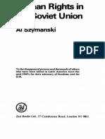 Albert Szymanski - Human Rights in the Soviet Union