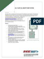 Intrinsically Safe Oil Smart Pump System