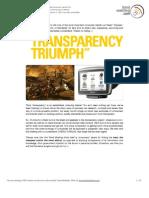 Transparency Triumph