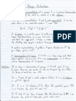 My Rep Theory Definitions Sheet
