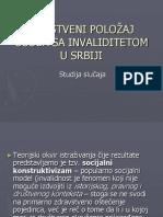 Drustveni Polozaj Osoba s Invaliditetom u Srbiji