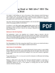 Link Building Dead or Still Alive? SEO The Right Way In 2014!