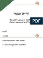 SolMan Defect Management Training