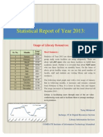 Usage of Library Resources Statistical Report Year 2013