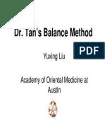 Dr. Tan's Balance Method