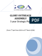 GOA 5 Year Strategic Plan as From 1st April 2013 to 31st March 2018 Revised on 9th Jan 2014
