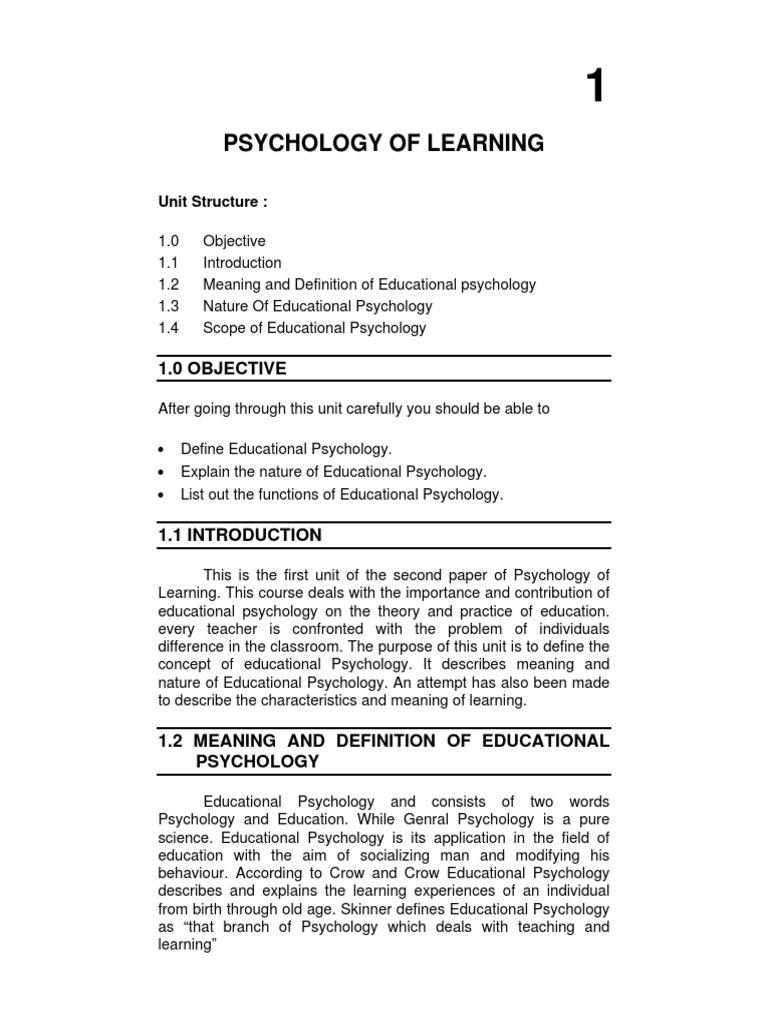 education psychology | experiment | educational psychology