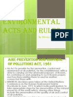 Environmental Acts and Rules