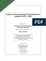 National Dairy Farming Industry SWOT 2005 Bahasa Version