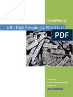 CrackVerbal GRE Word List