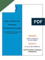 Premal-Kunal Mutual Fund Performance Measurement