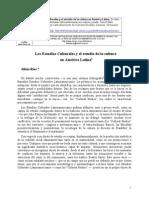 Los Estudios Culturales y el estudio de la cultura en Am�rica Latina A R�os