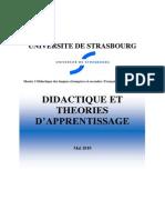 didactique et théorie d'apprentissage