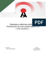 Planificatoare pentru reţelele LTE; LTE Scheduler