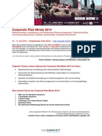 Preview Corporate Risk Minds 2014