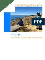 JTC Mission Report Peru August 2008