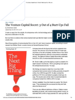 3 out of 4 vc backed companies fail