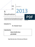 Desalination Using Reverse osmosis