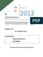 Desalination Using Reverse osmosis