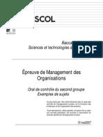 BacSTG Management Oral