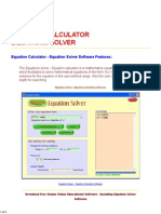 FREE Equation Calculator - Equations Solver - Mathematics Software