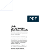 High Performances Stainless Steels