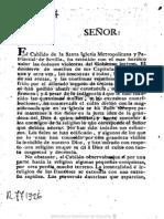 Petición restauración Inquisición 1812 por Cabildo Sevilla