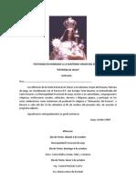 PROGRAMA OFICIAL Santísima Virgen del Rosario 2009