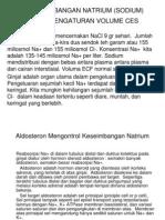 Keseimbangan Natrium (Sodium) Dan Pengaturan Volume