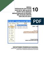 Mengoperasikan Software Aplikasi Data Entry Data Dg Keyboard
