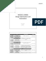 Design Optimization and Automation