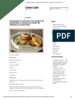 Brandada de Bacalao Con Timbal de Mozarella y Tomate Al Aceite de Albahaca y Anacardo La Cocina de Jose Luis