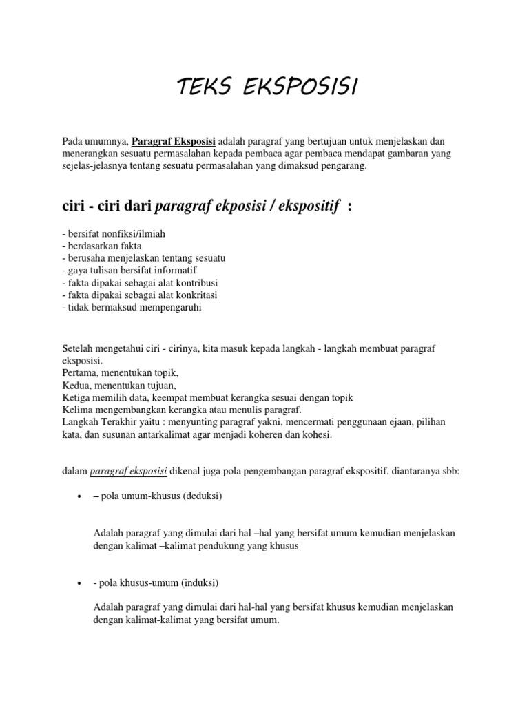Contoh Teks Eksposisi Proses Bahasa Jawa Brad Erva Doce Info