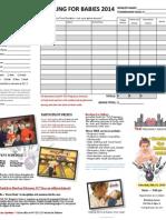 Bowling for Babies Pledge Sheet 2014