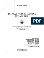 Hrm Hr-it Grp6 Mawana Sugars Report