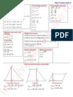 formule matematica gimnaziu