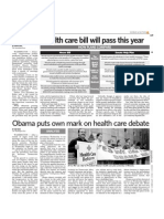 Obama puts own mark on health care debate, Newsday, September 11, 2009