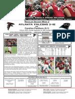 Atlanta Falcons vs. Carolina Panthers Week 2