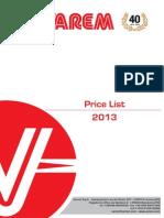 VAREM Pricelist 2013