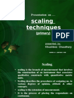 primary scaling techniques