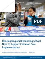 Redesigning and Expanding School Time to Support Common Core Implementation