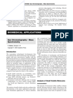 BIOMEDICAL APPLICATIONS - Gas Chromatography-Mass Spectromet